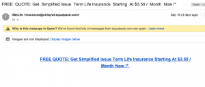 MET Life Insurance Email Spammers Scammers