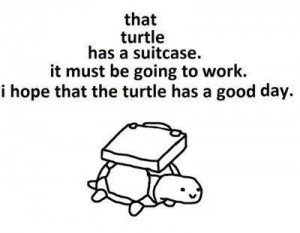 turtle and briefcase